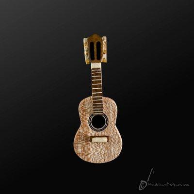 香港 Musician Designer 原木 木製 古典吉他 情侶 無弦 別針 樂器 禮物 【茗詮樂器】