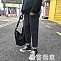 ins褲子男韓版潮牌破洞牛仔褲男寬鬆直筒原宿bf風chic闊腿九分褲 極客玩家
