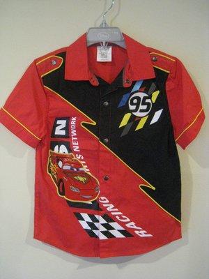 Disney Cars 男童襯衫 5-6歲尺寸