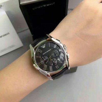 正品 Armani亞曼尼AR男士腕錶潮流時尚三眼計時多功能防水日曆石英手錶男士鏤空曼尼手錶 AR1633 新北市