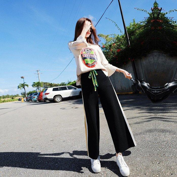 微胖妹妹2019夏季新款網紅洋氣顯瘦套裝大碼女裝運動休閒兩件套潮