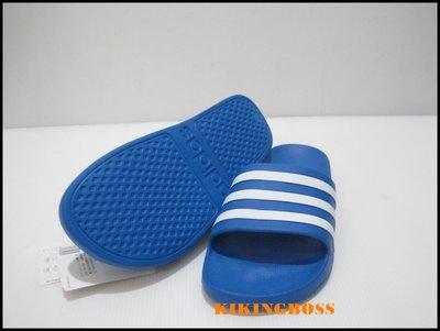 【喬治城】ADIDAS 運動拖鞋(藍白)F35541