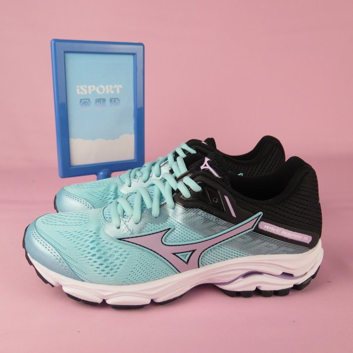 【iSport 愛運動】Mizuno INSPIRE 15 慢跑鞋 J1GD194469 女款 湖水綠