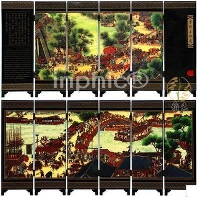 INPHIC-創意小屏風擺飾 中國特色 清明上河圖