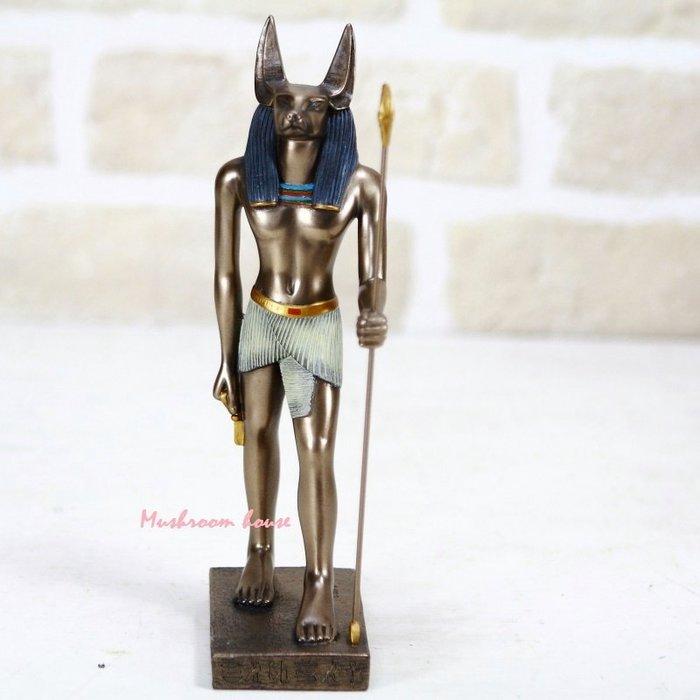 點點蘑菇屋 歐洲精品~仿銅古埃及胡狼神阿努比斯擺飾品 Anubis雕像 狗神 古埃及文明 埃及古文 圖騰 飾品 現貨