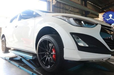【Xiomara GT】煞車 卡鉗 活塞 HYUNDAI ELANTRA 330劃線碟盤 街道版-大六卡鉗 烤漆紅