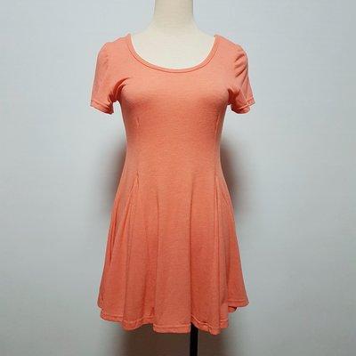 (U078) 50% FIFTY PERCENT橘色棉質短袖長版上衣 M號~牧牧小舖~優質二手衣~
