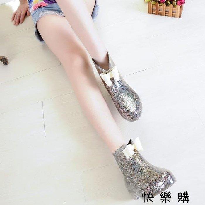 韓版時尚女雨鞋雨靴短筒膠鞋