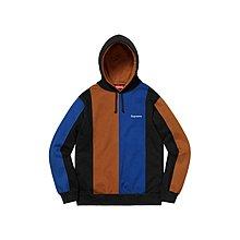 supreme tricolour hooded black size M