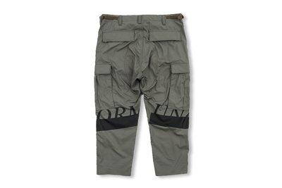 (A.B.E)uniform experiment AW19 HEM CUT OFF CROPPED CARGO PANTS 兩色