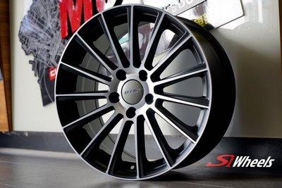【超前輪業】DTM555  類AMG 編號(54) 17吋鋁圈 5孔112 7.5J ET35 ET42 平光黑車面