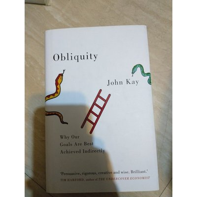 【雷根】Obliquity: Why Our Goals Are Best#360免運 #9成新 #T1469