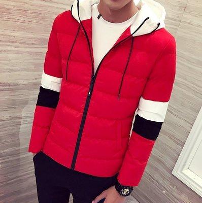 頹廢元素 - 發燒熱款  紅白黑拼色 連帽防風外套 三色