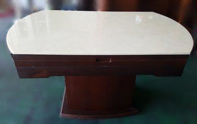 【宏品二手家具館】中古 家電 E12287胡桃石面餐桌*咖啡桌/會議桌/洽談桌/中古 書桌椅 會議桌椅 辦公桌椅