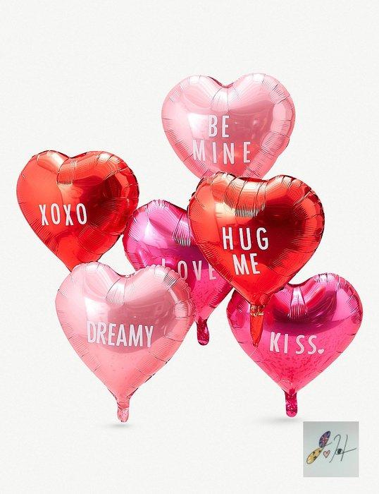 當日寄出[現貨]英國代購 英國GINGER RAY 愛心氣球6入 派對小物 求婚 告白