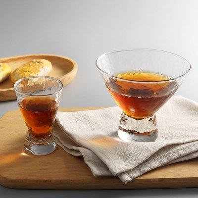 錘紋玻璃喇叭口甜品杯 酒杯 玻璃沙拉碗雪糕杯 高足杯(70ml)_☆優夠好SoGood☆