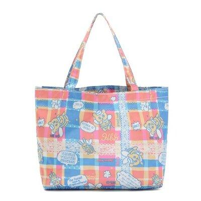 【Q包小屋】日雜誌附錄 HBG 蜜蜂小熊 防水 手提包 手提袋 便當袋 環保袋 托特包 小包包 購物袋