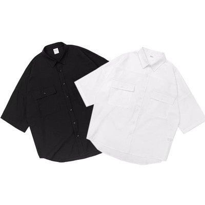 【Result】五分袖黑襯衫 Hiphop 寬鬆 N.W.A