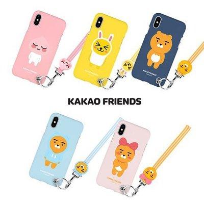 KAKAO FRIENDS 手繩吊飾軟殼 手機殼│iPhone X XS MAX XR 11 Pro│z9218