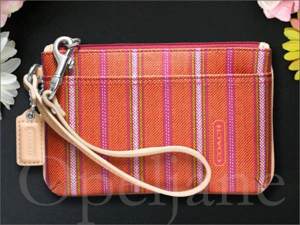 全新真品 現貨 COACH 49257 legacy 條紋 手拿包 手腕包可放 IPHONE 6 手機 愛COACH包包