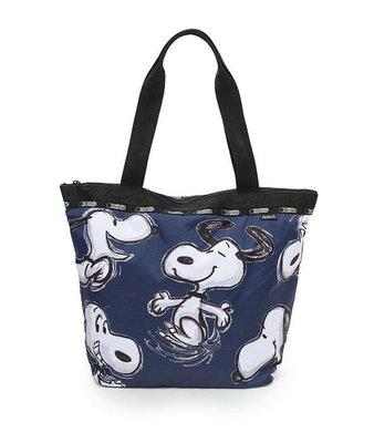 預購 美國 Lesportsac 各品項代購中 Snoopy Fun 藍色迷糊史努比 聯名限量款 肩背包 托特包