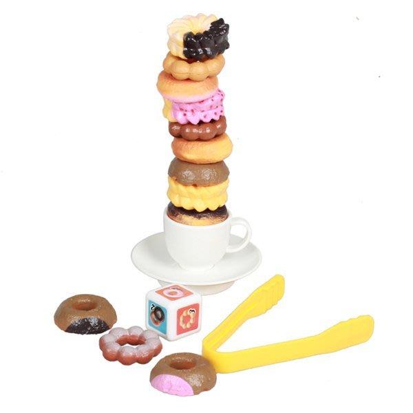 親子益智趣味遊戲-趣味甜甜圈疊疊樂~套杯趣味平衡遊戲◎童心玩具1館◎