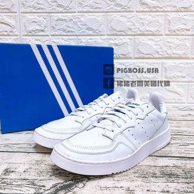 【豬豬老闆】ADIDAS ORIGINALS SUPERCOURT 白藍 皮革 復古 休閒鞋 男鞋 EF5887