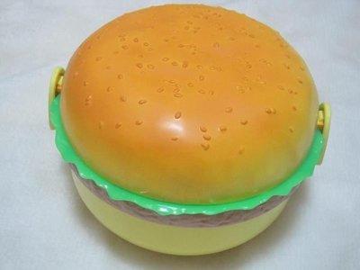 全新飯盒 超可愛圓形漢堡包保溫飯盒 兒童保溫桶 學生便當盒