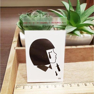 【萌古屋】百態人生09單圖 - 男女防水紋身貼紙刺青貼紙 K43