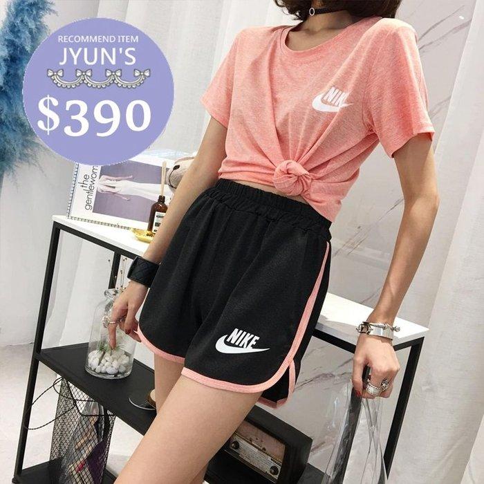 套裝 實拍 日韓版時尚新款NIKE百搭簡約休閒短袖T恤上衣+運動短褲套裝3色-JYUN'S 預購