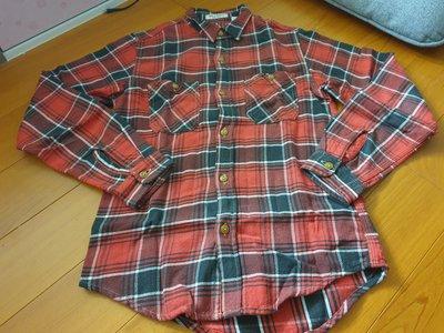 sugar cane 格紋 工裝 厚磅 100%純棉 襯衫 M號 made in California 美國製