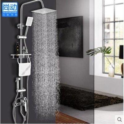 淋浴花灑套裝全銅龍頭冷熱水龍頭噴頭淋浴龍頭升降igo
