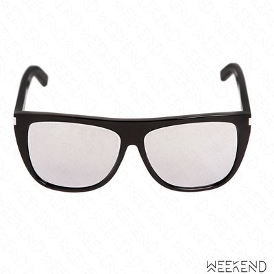 【WEEKEND】 SAINT LAURENT YSL New Wave Flat Top 墨鏡 黑色