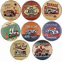 復古懷舊工業風掛飾汽車摩托車牆畫鐵皮畫裝飾品做舊標牌壁飾壁掛