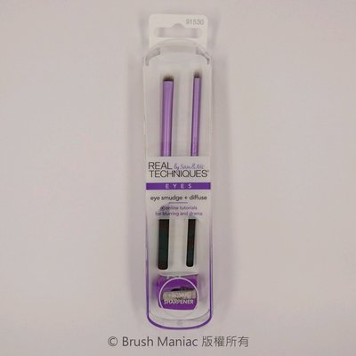 Brush Maniac*Real Techniques EYE SMUDGE+DIFFUSE 眼影暈染刷+眼線暈染刷