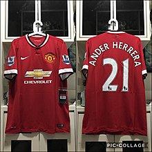 曼聯 Manchester United 2014/15 主場全新連牌size L Ander Herrera