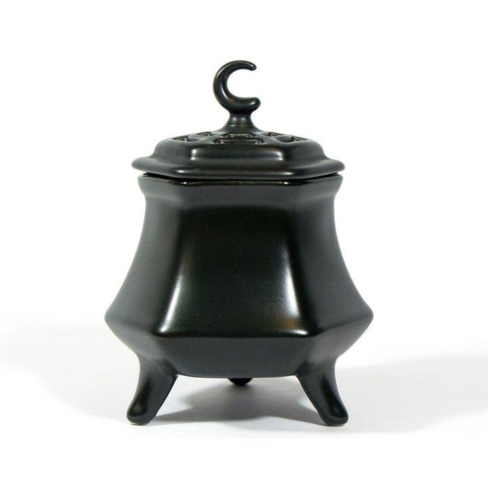 【沉香舍】台灣製造 鶯歌陶瓷工廠 電子薰香爐 煎香爐 電爐 含配件含運再送獨家禮 六角三足款 黑色