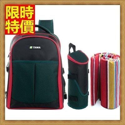 野餐包 2人餐具組 雙肩後背包-保溫隔層多用途安全環保時尚百搭野餐包 68ag37[獨家進口][米蘭精品]