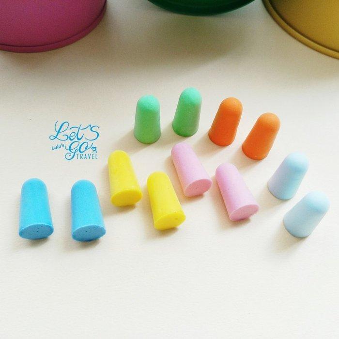 彩色耳塞  ❉︵  彩色盒裝降低噪音海綿耳塞 ︵❉ 多色 。隨機出貨。Let's Go lulu's。CK02