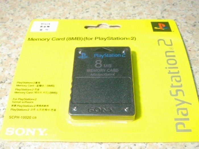 SONY PS2 原廠8MB記憶卡 原廠記憶卡8MB 黑金剛 全新 直購價300元 桃園《蝦米小鋪》