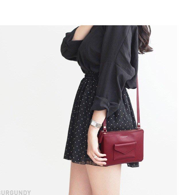 Cutie-Newbag【AA0567】韓國韓國單肩包女時尚雙拉鍊小斜背肩背包現貨