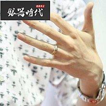 【時代銀器】手工S999足銀 簡約韓版 卡迪亞 明星同款 素銀三環戒指情侶新款SDYQ4605
