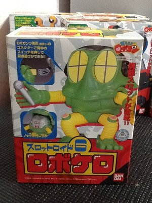 玩具魂`BANDAI出品`日本製小露寶系列之六號青蛙機器人`1999年收藏品`少見美品`絕版貨