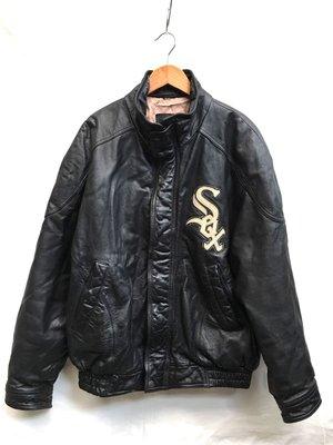 Vintage WHITE SOX leather jacket 白襪隊古著皮衣(mlb/nba)