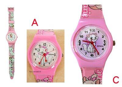 【卡漫迷】 瑪莉貓 手錶 二款選一 ㊣版 Marie 兒童錶 瑪麗貓 ~ 女錶 卡通錶 膠錶 迪士尼
