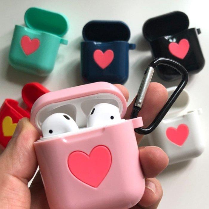 Airpods收納盒保護套蘋果耳機超薄防摔可愛心型亮光矽膠殼_☆找好物FINDGOODS☆