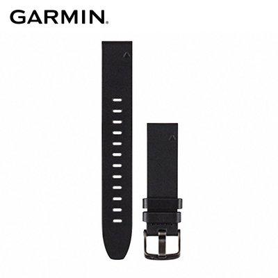 【桃園幸運草】GARMIN QUICKFIT 20mm 黑色皮革錶帶