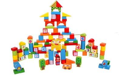 【晴晴百寶盒】100入積木 大型創意發揮益智積木 益智遊戲 玩具 生日禮物 送禮禮品 CP值高 平價促銷 A144