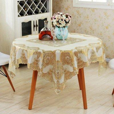 [可開發票]pvc桌巾 正方形餐桌巾 茶幾布 免洗防水防油燙金-不帶鏤空 【格調】