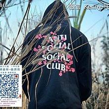 Anti Social Social Club ASSC 樱花加绒连帽卫衣 黑 白 粉 S M L XL